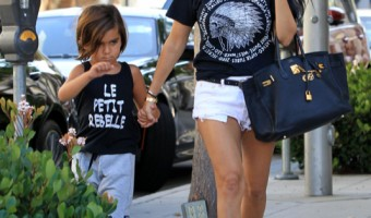 Kourtney Kardashian Shops With Mason