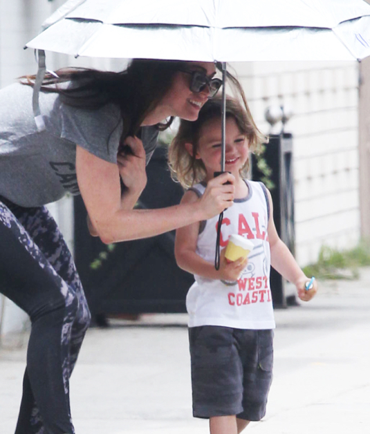 Megan Fox Takes Her Kids To A Baby Class