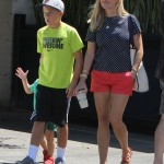 Reese Witherspoon Enjoys Family Lunch Day