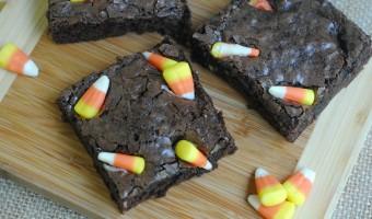 Homemade Candy Corn Brownies