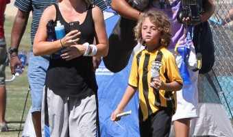 Kendra Wilkinson and Son Hank Jr. Enjoy a Day Packed With Sports