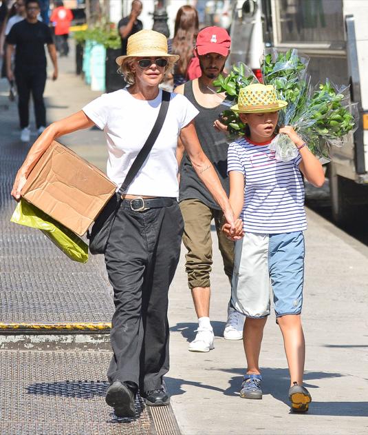 Meg Ryan & Daughter Daisy Running Errands In NYC