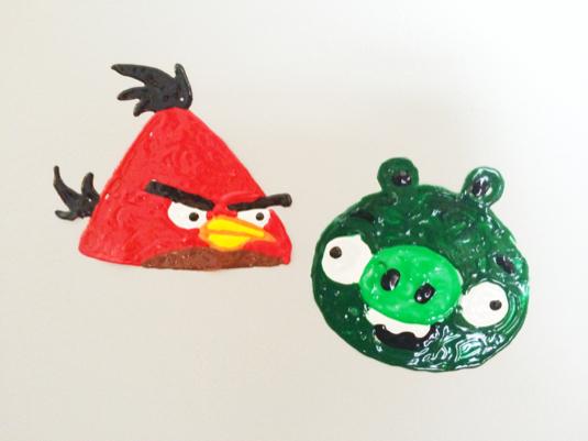 Angry birds window clings