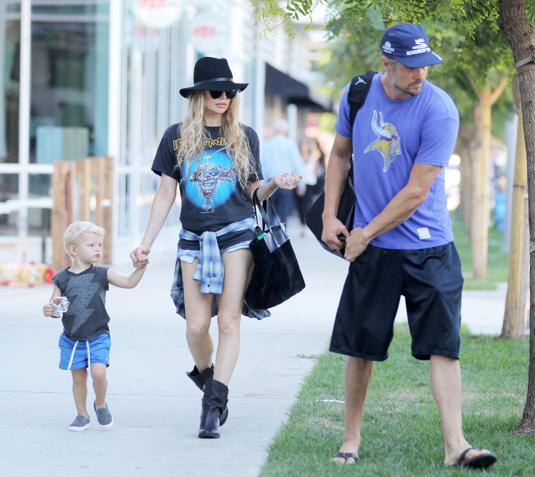 Fergie & Josh Duhamel Leaving The Park With Axl