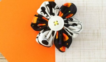 Crafting: Halloween Mickey Hair Clip #DIY