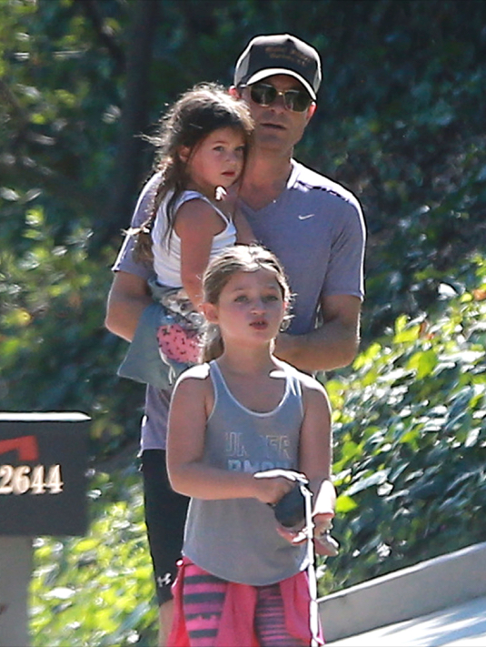 Exclusive... Jason Bateman Goes For A Walk With His Family