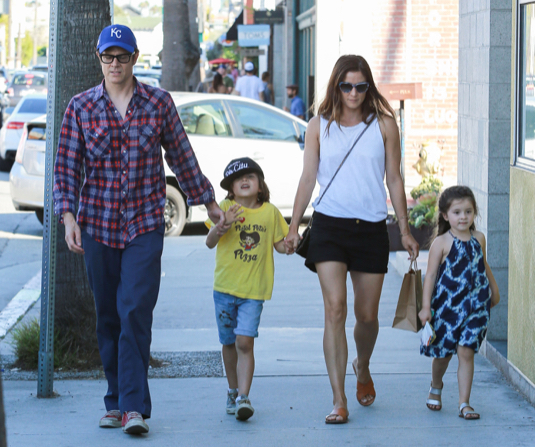 Exclusive... Johnny Knoxville Takes His Family Out For Ice Cream
