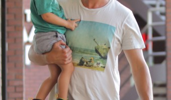 Josh Duhamel & Axl Have a Daddy-Son Day