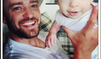 Justin Timberlake Shows off Photos of Silas With Jimmy Fallon
