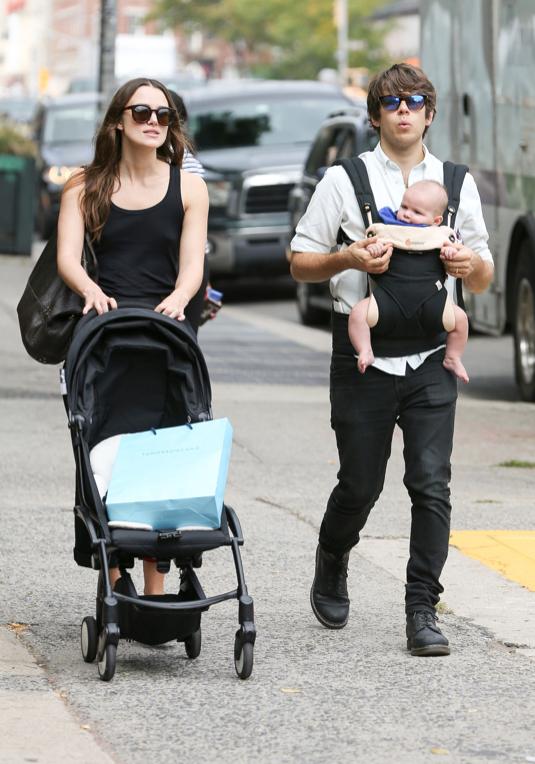 Keira Knightley & James Righton Go For A Family Walk | Celeb