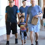 Malibu Boys: Orlando Bloom Spends the Day With His Dad & Son Flynn