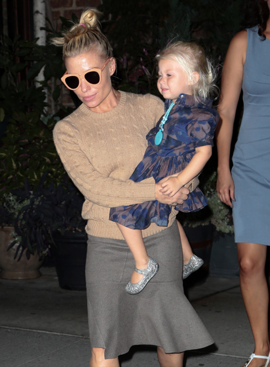 Tracy Anderson Out And About In NYC With Her Daughter