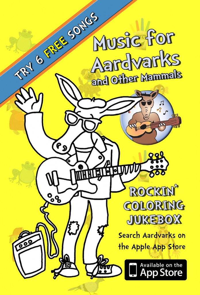 Celeb Baby Review – Revolutionary Music for Aardvarks Coloring Jukebox App by David Weinstone