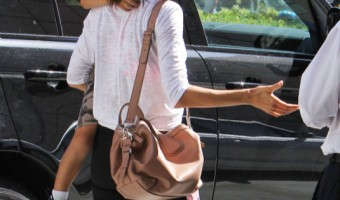 Alessandra Ambrosio & Noah Visit Medical Building