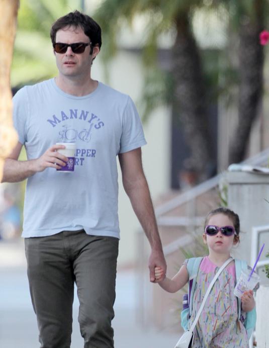 Bill Hader Strolls With Daughter Hannah