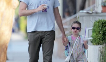Bill Hader Strolls With Daughter Hannah