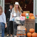 Pregnant Cat Deeley Goes Grocery Shopping