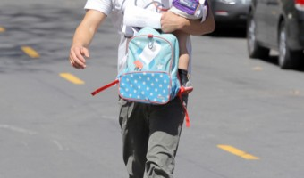 Josh Duhamel Leaving The Park With His Son