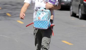 Josh Duhamel & Axl: Father-Son Minnesota Vikings Fans