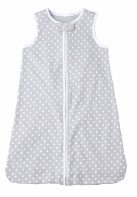 Just Born Gray Polka Dot Wear-A-Blanket
