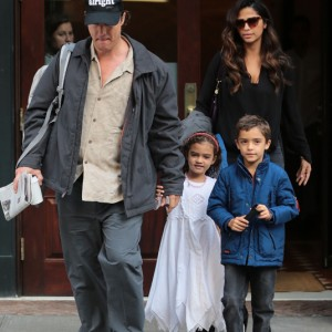 Matthew McConaughey And Family Out In New york