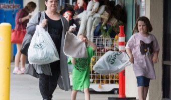Melissa McCarthy Stops By Jo-Ann Fabrics With Her Daughters