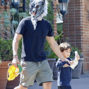 Orlando Bloom Shops For Halloween Costumes With His Son