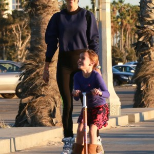Alessandra Ambrosio And Family Out Rollerblading In Santa Monica