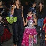 Alessandra Ambrosio Goes Trick-or-Treating