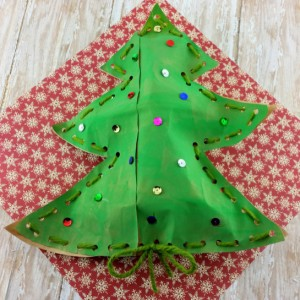 Stuffed Christmas Tree Craft For Children