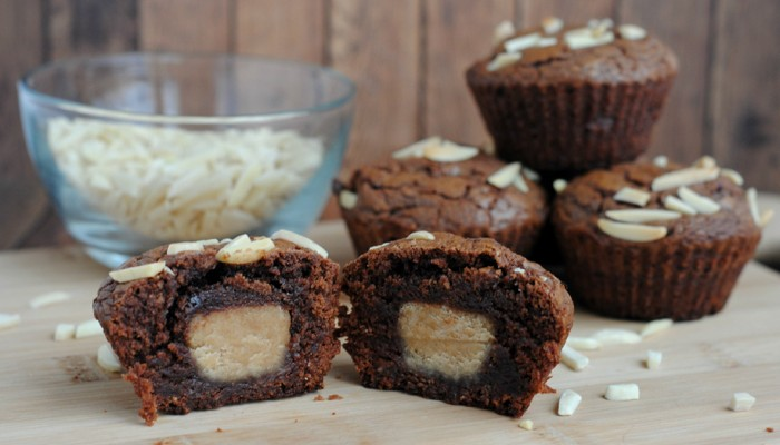 Nutella Peanut Butter Cup Muffins