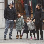 Matt Damon & Family Spend The Day Together in London