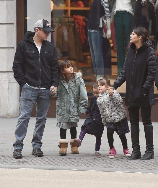 Matt Damon Family 2015