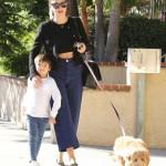 Miranda Kerr & Flynn Stroll With Their Cute Dog