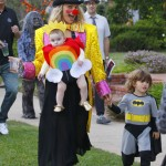 Molly Sims Goes Trick-or-Treating With her Children