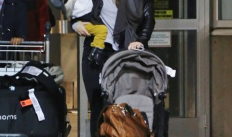 Exclusive... Olivia Wilde & Otis Land In Vancouver