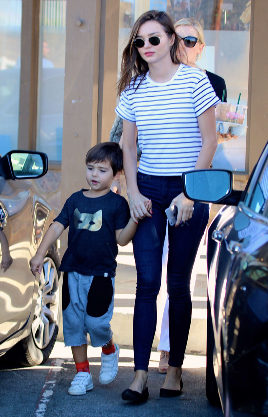 Miranda Kerr & Orlando Bloom Reunite For Their Son Flynn