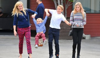 Exclusive... Reese Witherspoon & Family Attending Church In Santa Monica