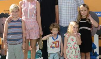 Tori Spelling & Family Attend The Peanuts Movie Premiere
