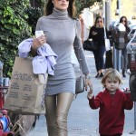 Alessandra Ambrosio Takes Son Noah Mazur Out Shopping
