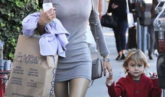 Alessandra Ambrosio Shopping In Brentwood With Her Son