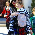 Gwen Stefani and Sons Kingston, Apollo, and Zuma Rossdale Go to Church In Style