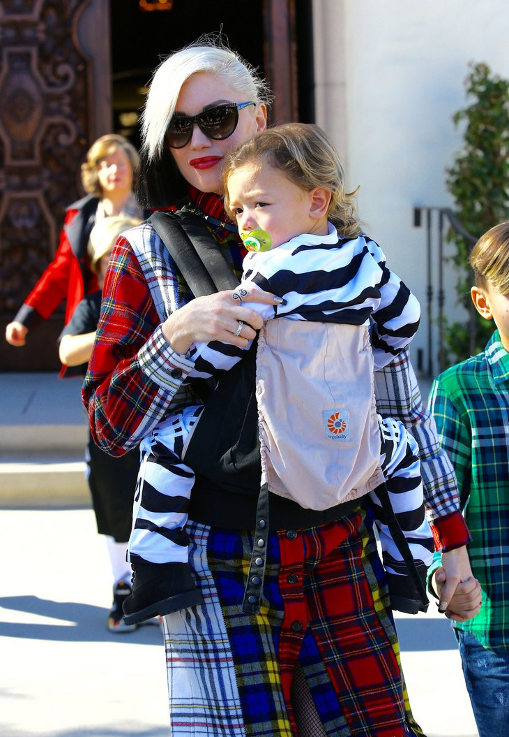 Gwen Stefani Out And About With Her Sons
