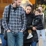 Jordana Brewster & Family Pick Up Ice Cream on Chilly Day