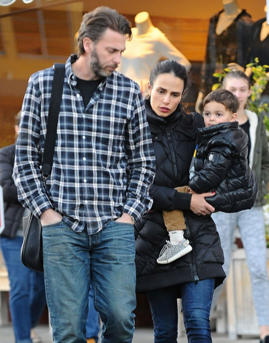Exclusive... Jordana Brewster & Family Stop For Ice Cream In Brentwood