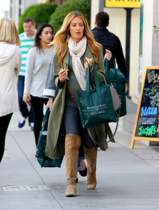 Cat Deeley Shows Off Her Baby Bump While Shopping In Beverly Hlls