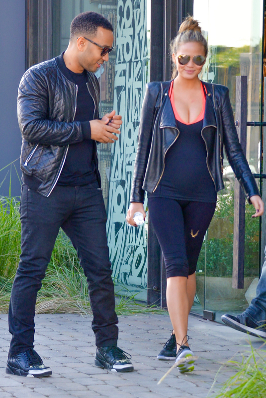 Pregnant Chrissy Teigen And John Legend Out And About In Los Angeles