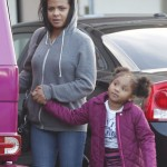 Christina Milian & Violet Catch Sushi
