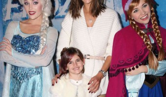 Alessandra Ambrosio & Anja Attend Disney's Frozen on Ice Premiere