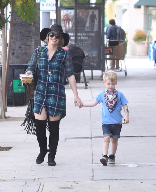 Hilary Duff Out And About With Son Luca Comrie In Studio City